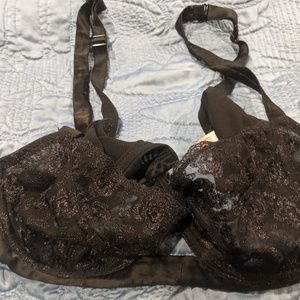 Black lace push up style bra